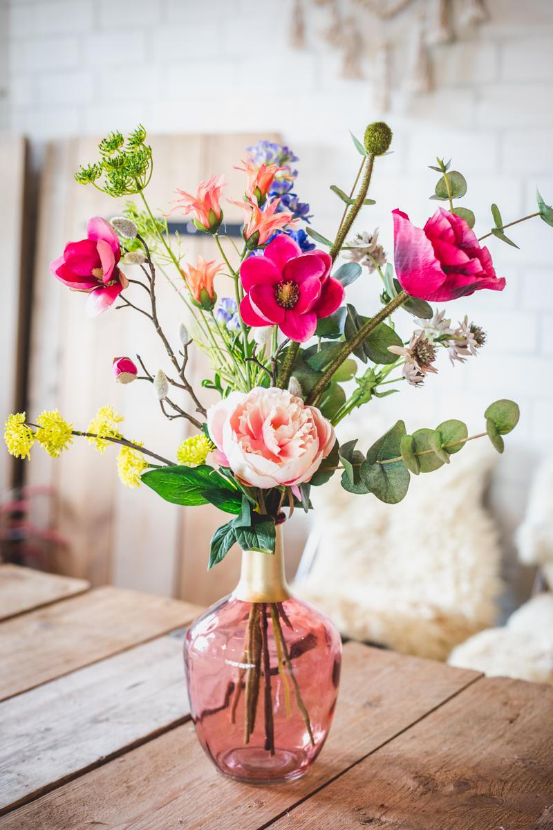 Plukboeket Zijde Bloemen | Lovely-living